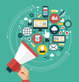 46515311-concetto-di-marketing-digitale-mano-umana-con-un-megafono-circondato-da-icone-di-media